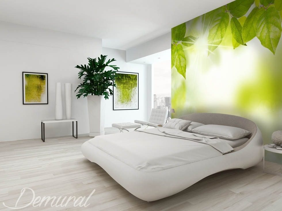die gr ne energie fototapete f r schlafzimmer fototapeten demural. Black Bedroom Furniture Sets. Home Design Ideas