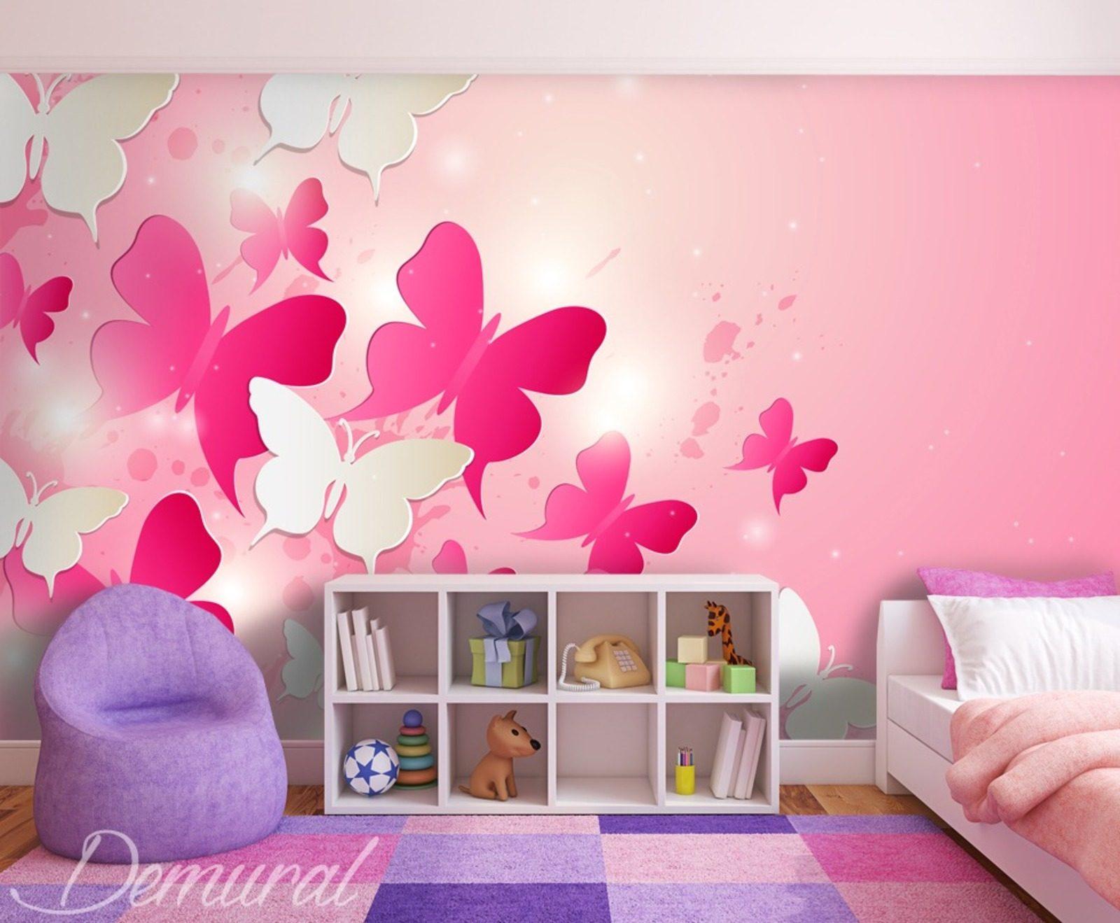 in dem rosaroten k nigsreich fototapete f r kinderzimmer fototapeten demural. Black Bedroom Furniture Sets. Home Design Ideas
