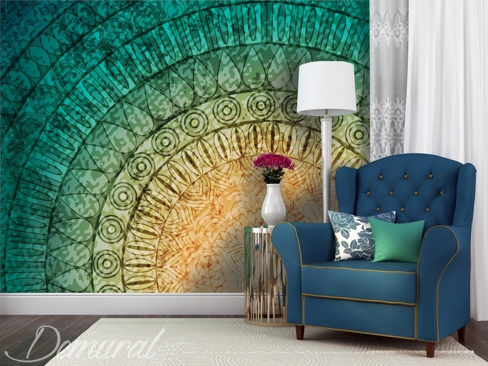 wand mandala fototapete f rs wohnzimmer fototapeten demural. Black Bedroom Furniture Sets. Home Design Ideas